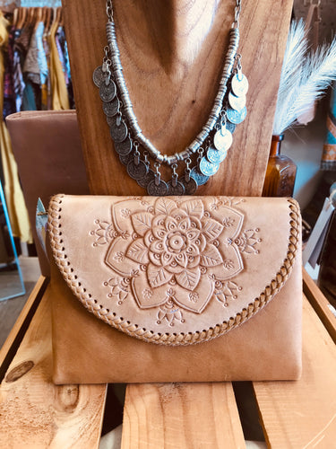 Mandala Clutch Tan