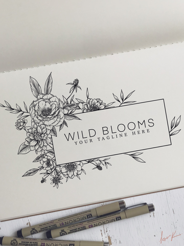 Wild Blooms Semi-Custom Logo Suite