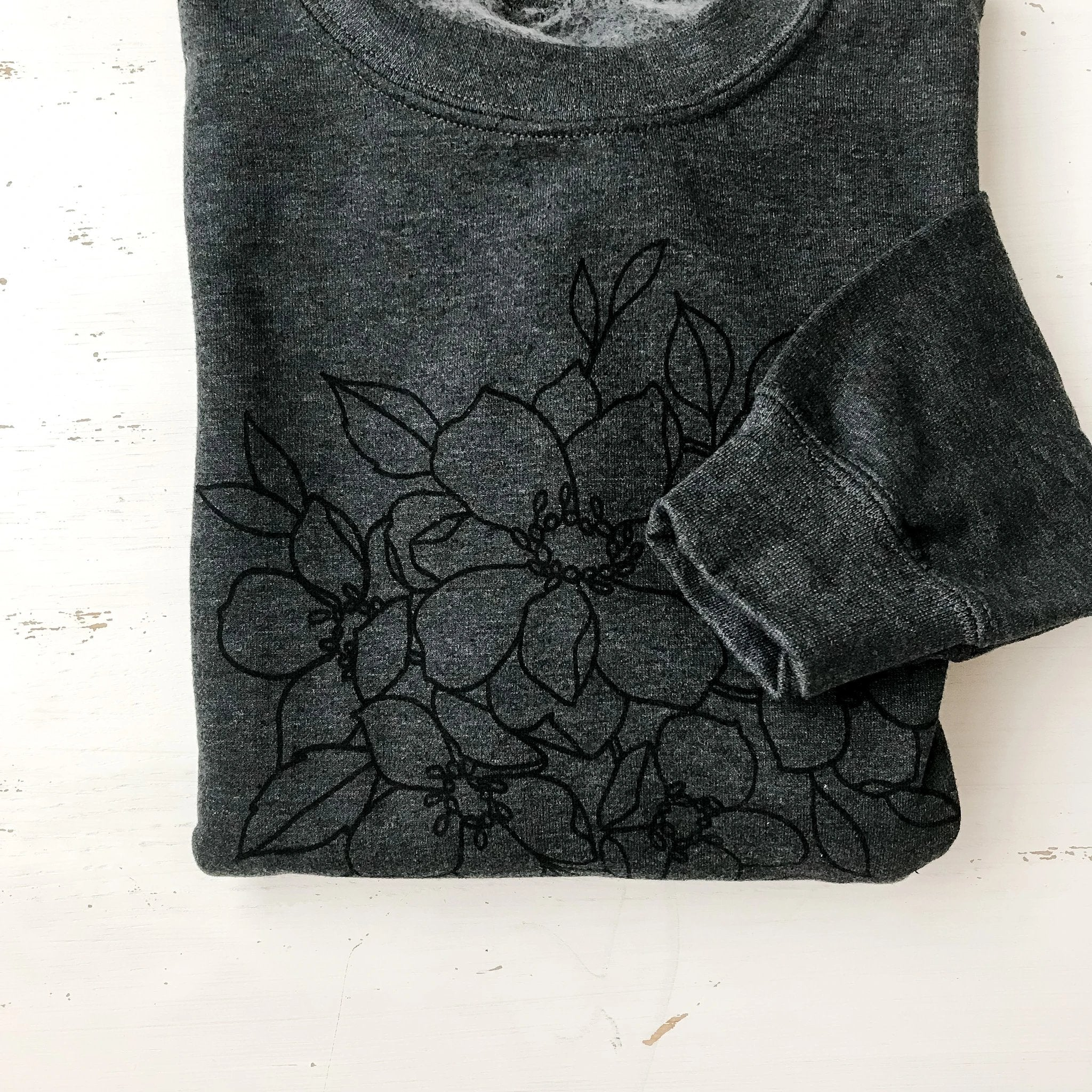 Everyday Crew Neck Floral Sweatshirt
