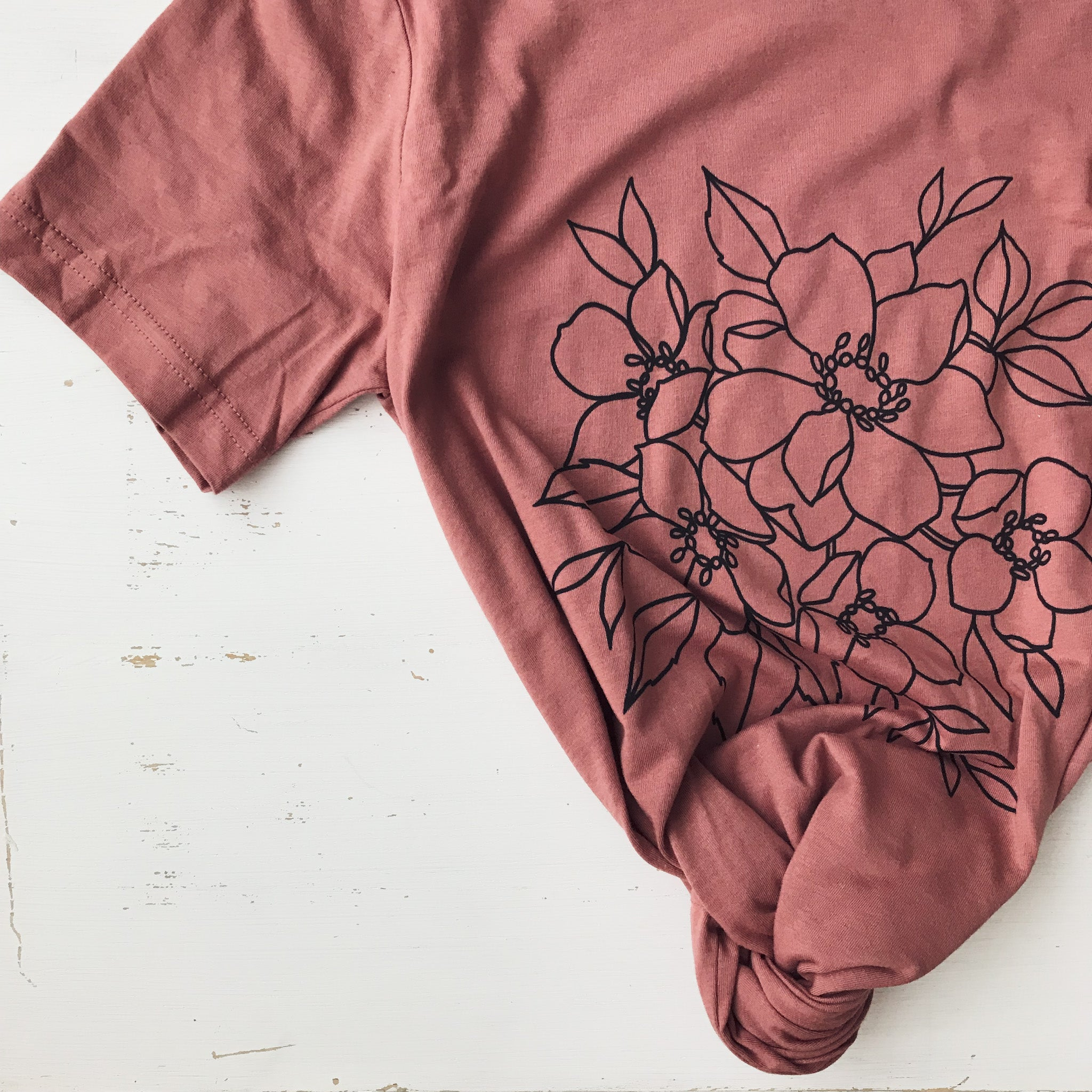Dusty Rose Soft Cotton T-Shirt