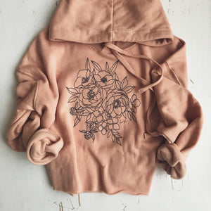 The Live-in Cropped Hoodie {Faded Peach}