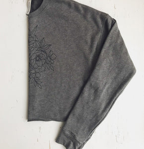 The Cropped Spring Fleece {Stone}