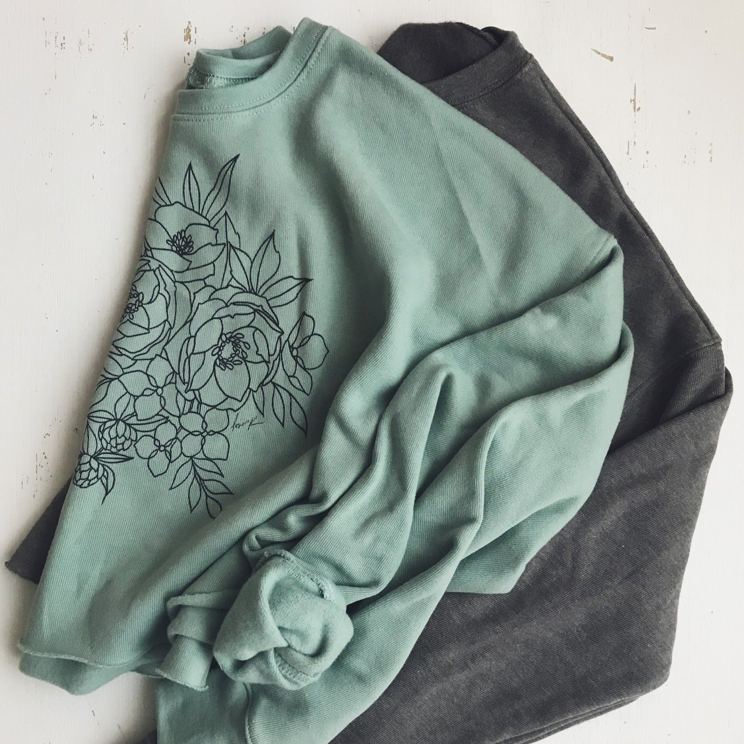 The Cropped Spring Fleece {Dusty Blue}