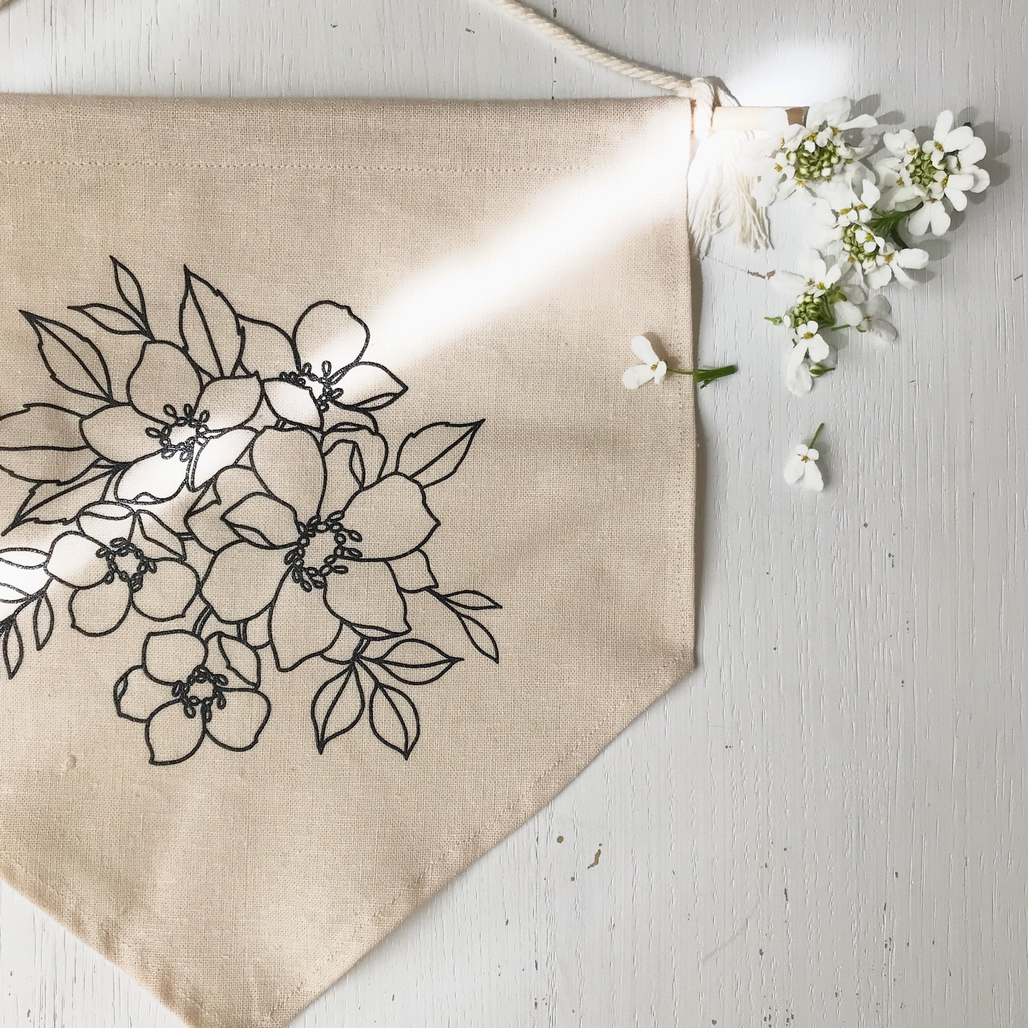 Handmade Linen Wall Hanging {Small}