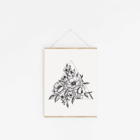 hand drawn floral botanical magnolia illustration minimalist peony wild rose wildflower hand drawn art