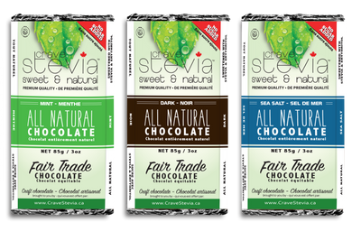 NEW-Stevia Sweetened Chocolate Bars