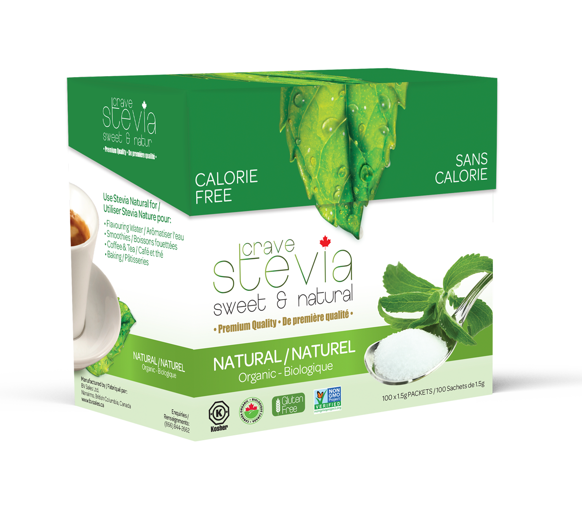 Crave Stevia Powder Packets - Crave Stevia