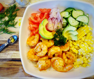 @fitmom_fitfood's Honey Chipotle Shrimp