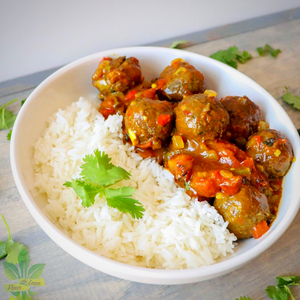 @fleur_de_lean's Maharajah Sweet Potato and Wild Rice Meatless Meatballs
