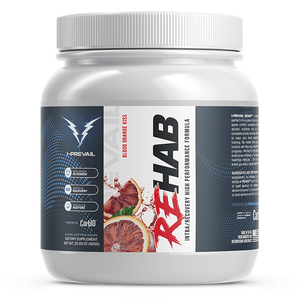 Rehab Intra/Recovery Formula backed by a study in the International Society of Sports Nutrition