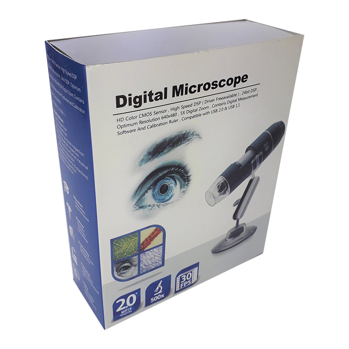 Microscopio Digital Usb 2.0, Hd Color