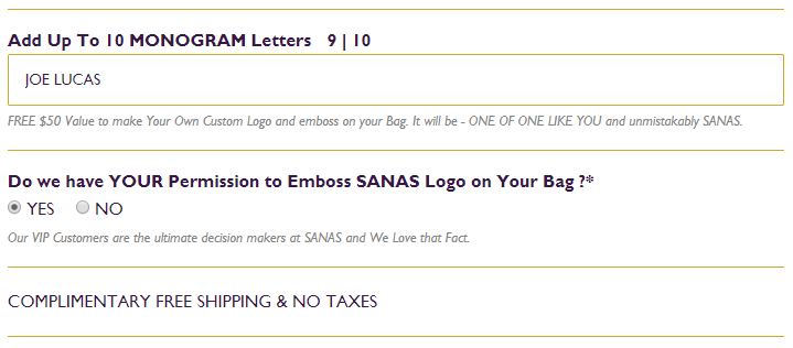 SANAS LOGO AND MONOGRAM