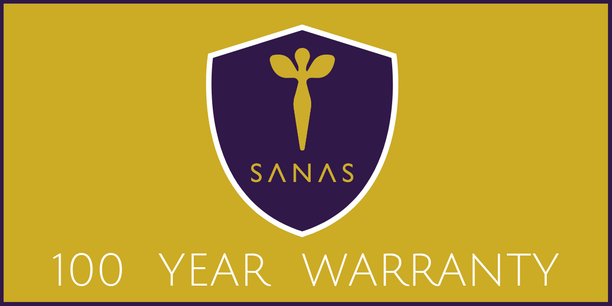SANAS 100 year warranty