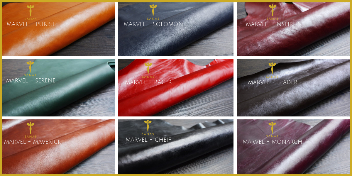 SANAS MARVEL LEATHER COLORS