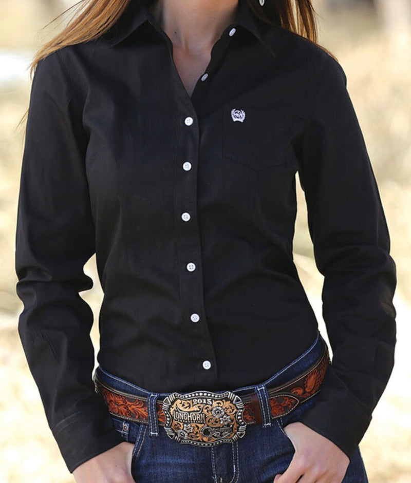Ladies Black Cinch Shirt