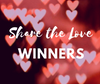'Share The Love' Giveaway Winners