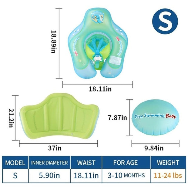 New Upgrades Baby Swimming Float Inflatable Infant Floating Kids Swim Pool Accessories Circle Bathing Summer Toys Toddler Rings