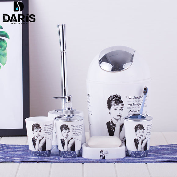 Paris Tower / Audrey Hepburn Stylish Bathroom Accessories