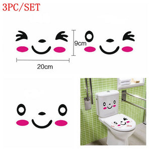 3PCS/SET DIY Toilet Seat Stickers