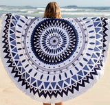 Large Round Mandala Tapestry With Tassel