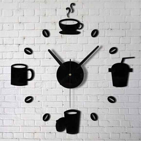 Kitchen Coffee Cups Wall Clock