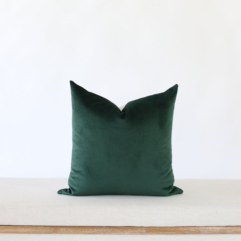 Emerald Green Handmade Pillow Cover