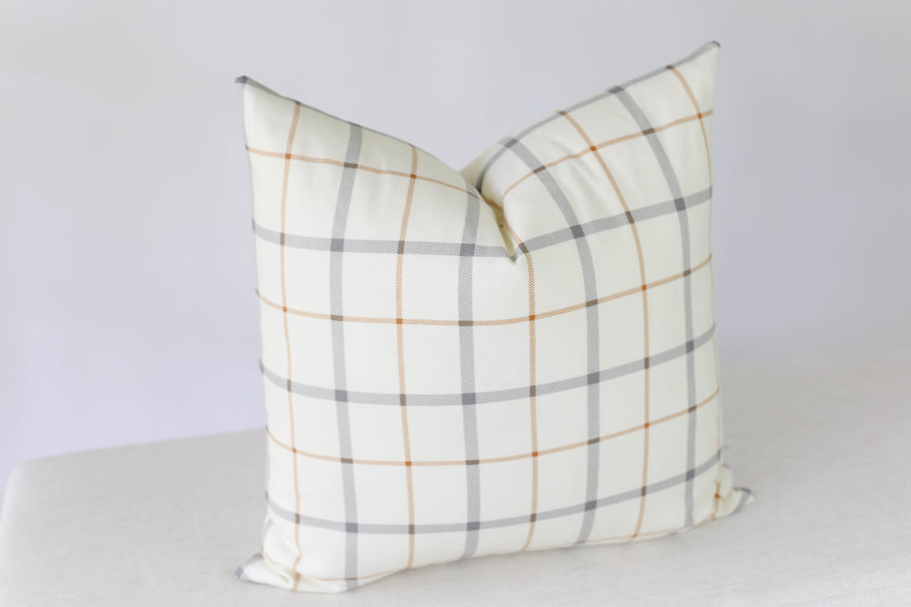 Harvest Plaid Handmade Pillow Cover