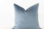 Dusty Blue Velvet Handmade Pillow Cover