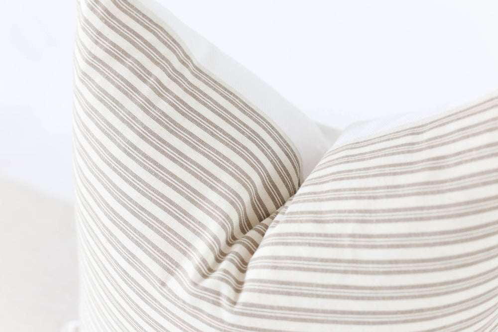 Harvard Stripe Pillow Cover