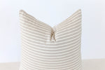 Harvard Stripe Handmade Pillow Cover
