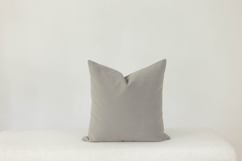 Grey Velvet Handmade Pillow Cover