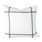 Black Window Pane Pillow Cover