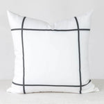 Black Window Pane Handmade Pillow Cover