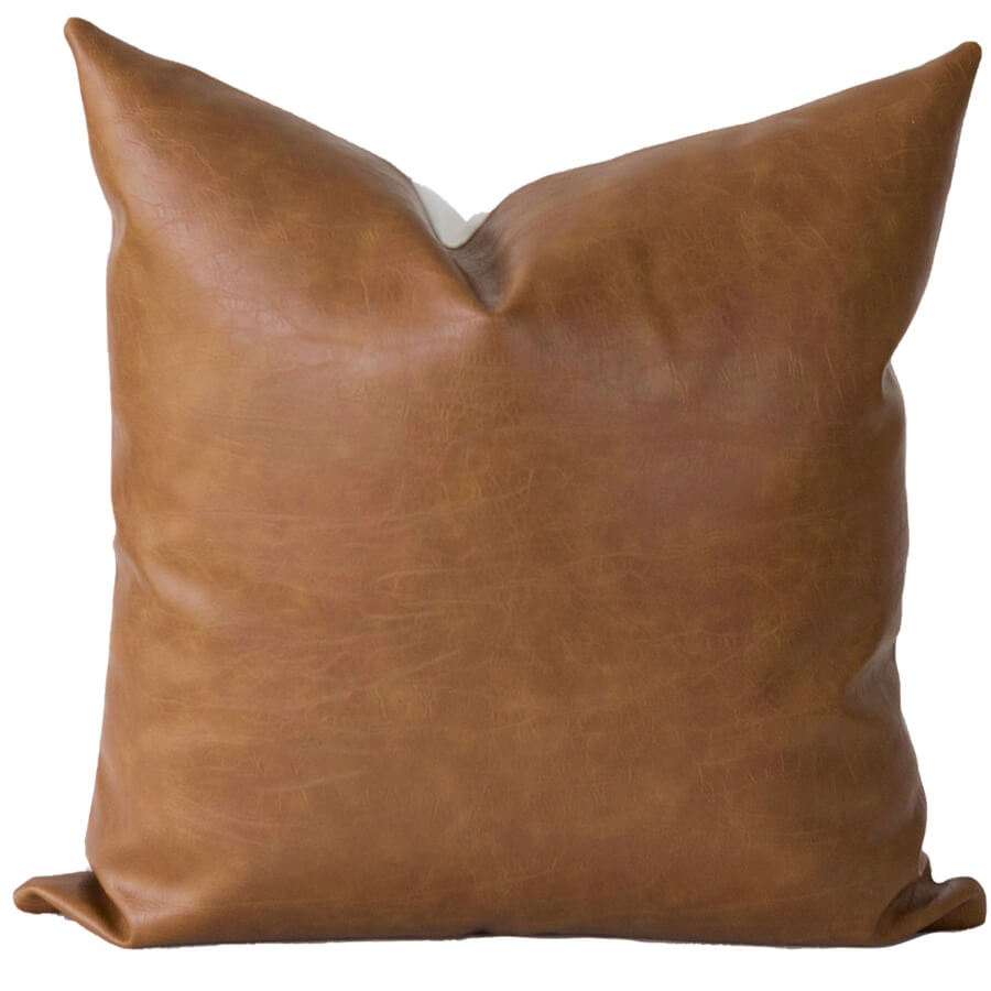 Leather Handmade Pillow Cover