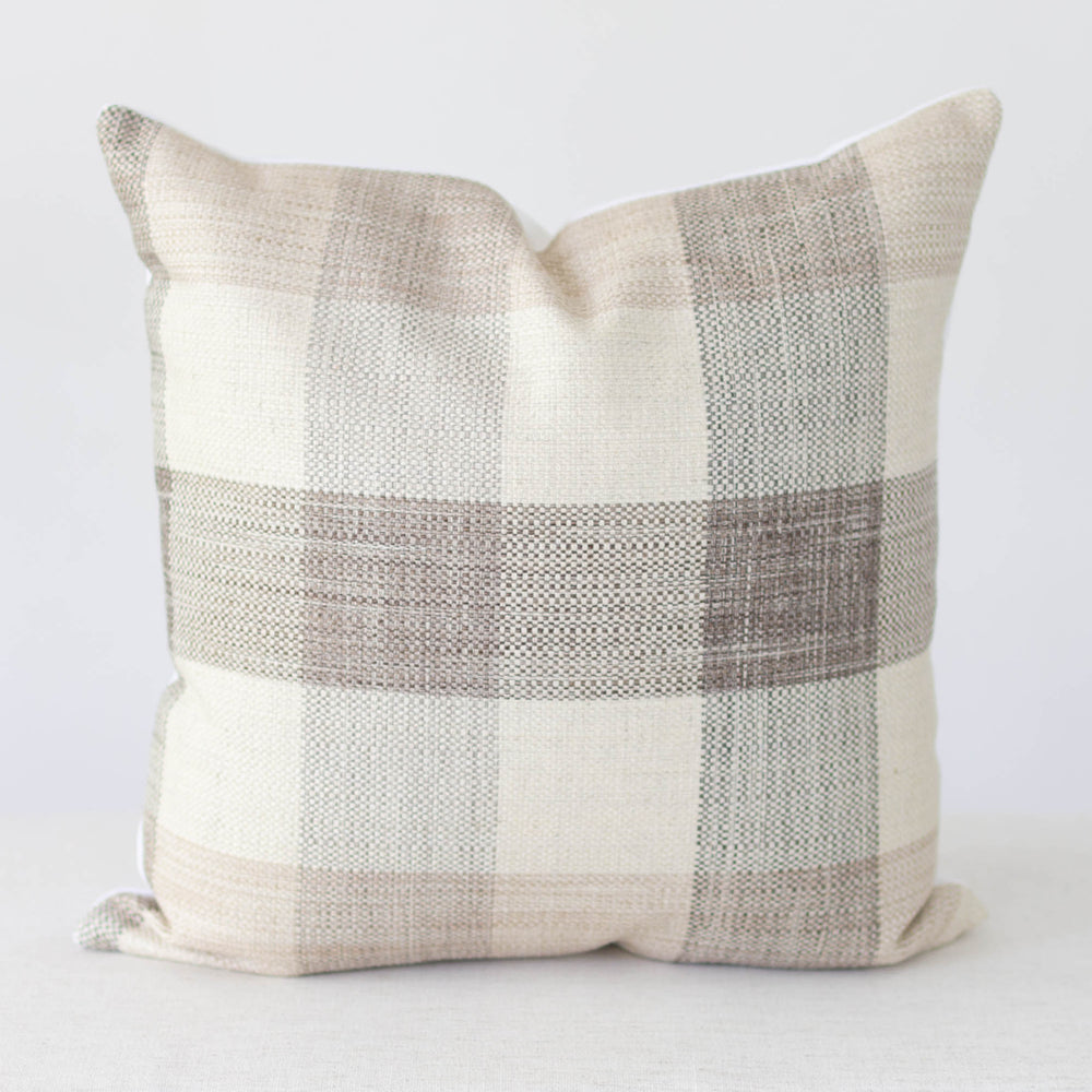 Neutral Plaid Handmade Pillow Cover