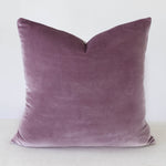 Purple Velvet Handmade Pillow Cover
