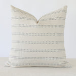 Tatum Blue Stripe Handmade Pillow Cover