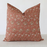Terracotta Flora Handmade Pillow Cover