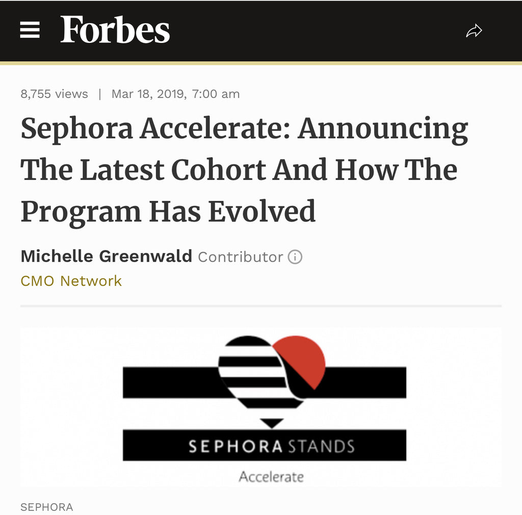 Forbes.com: Sephora Accelerate Announcing The Latest Cohort