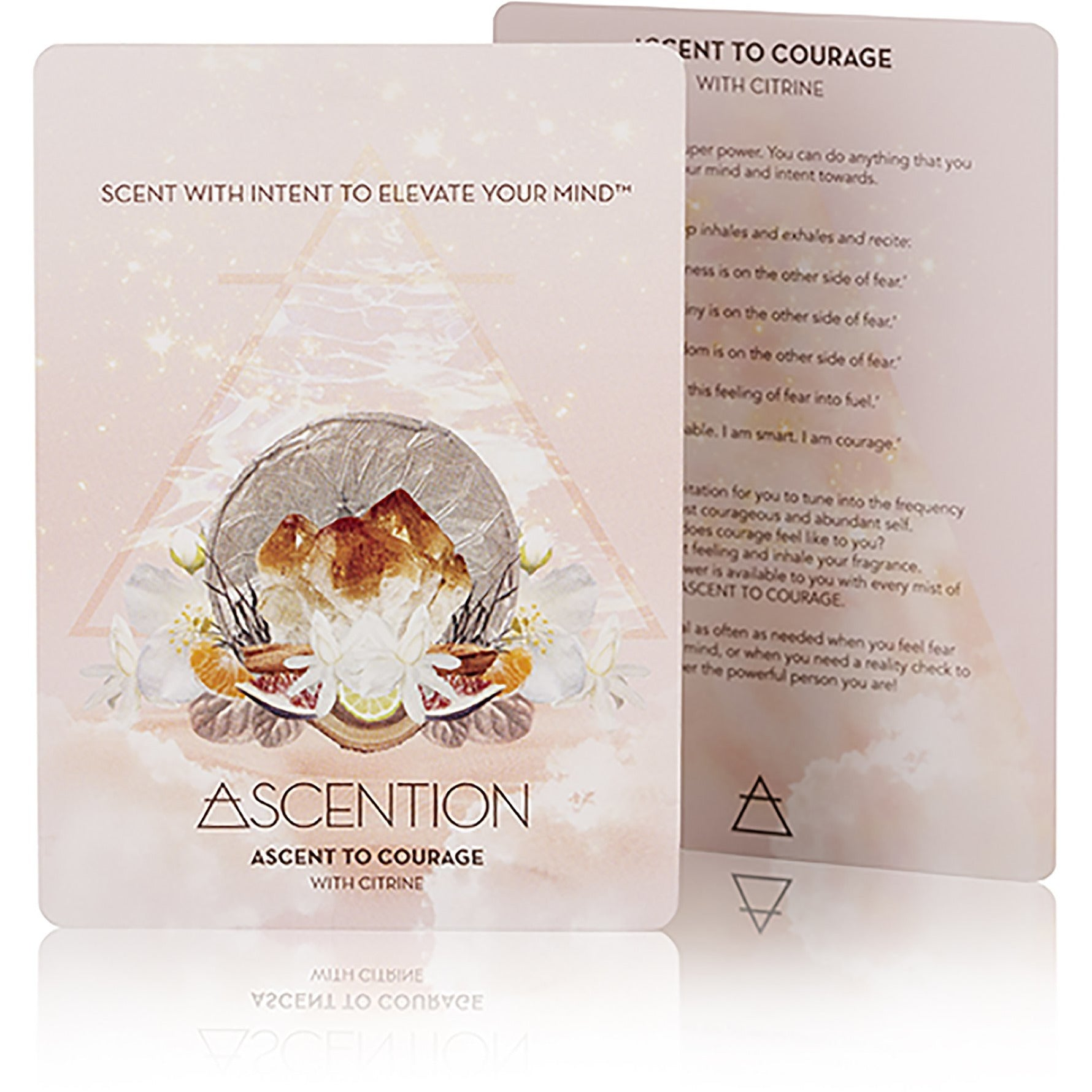 Ascent To Courage With Citrine Crystal