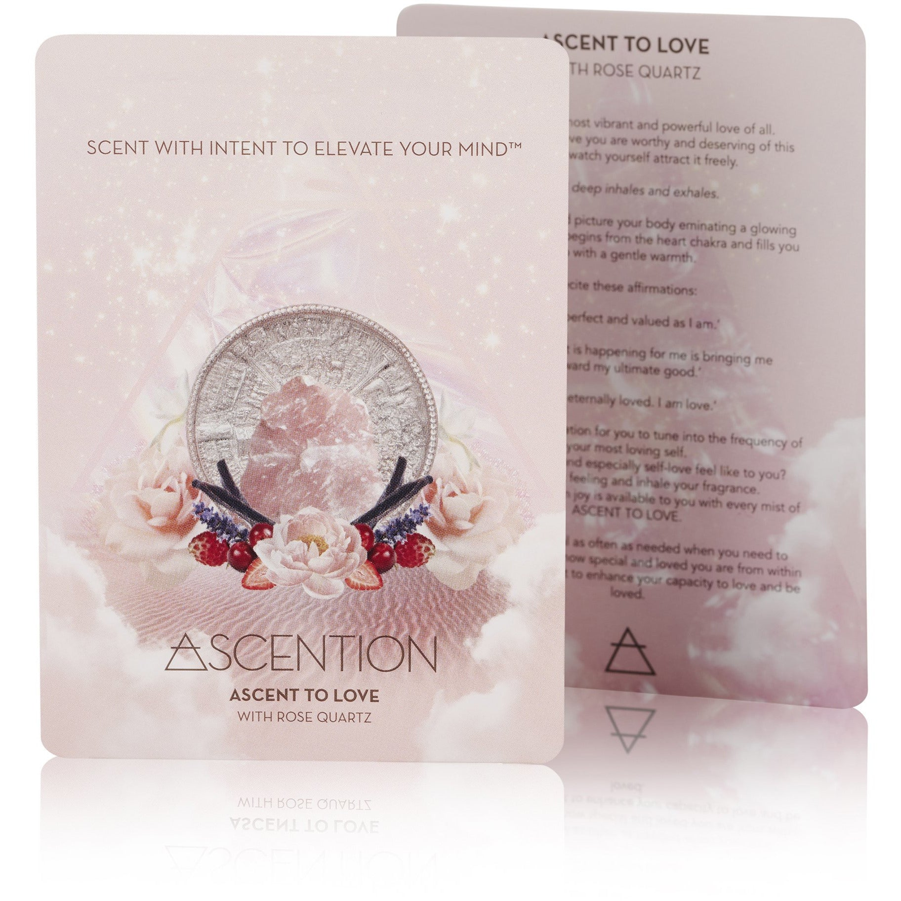 Ascent To Love With Rose Quartz Crystal
