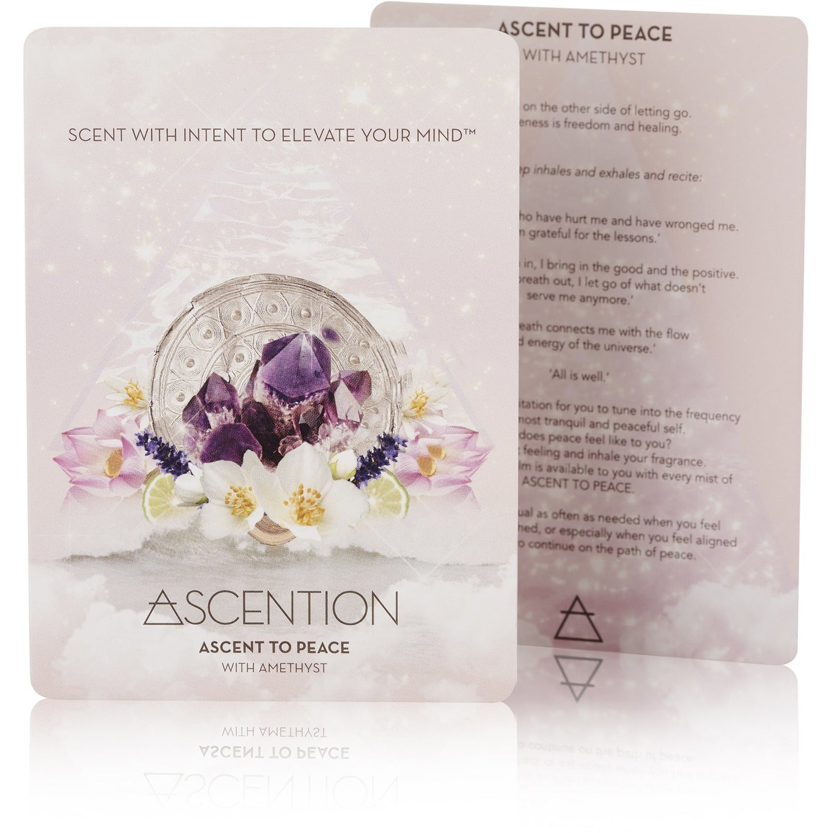 Ascent To Peace With Amethyst Crystal