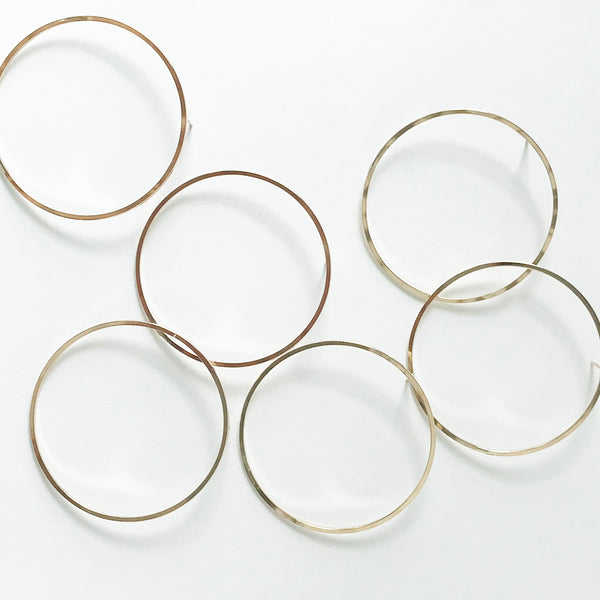 14. GOLD-FILL HOOP STUDS