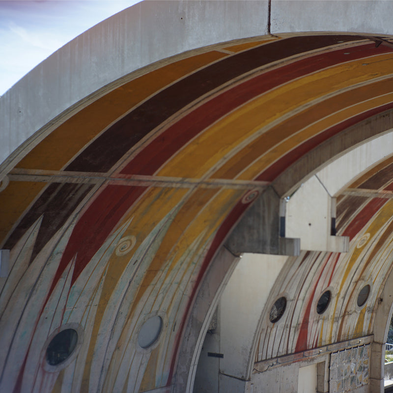 The underside of the vaults of Arcosanti
