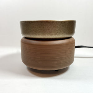 2-IN-1 DISH WARMER - PEWTER WALNUT