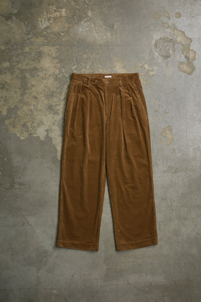 SUPIMA CORDUROY TUCKED MILITARY PANTS
