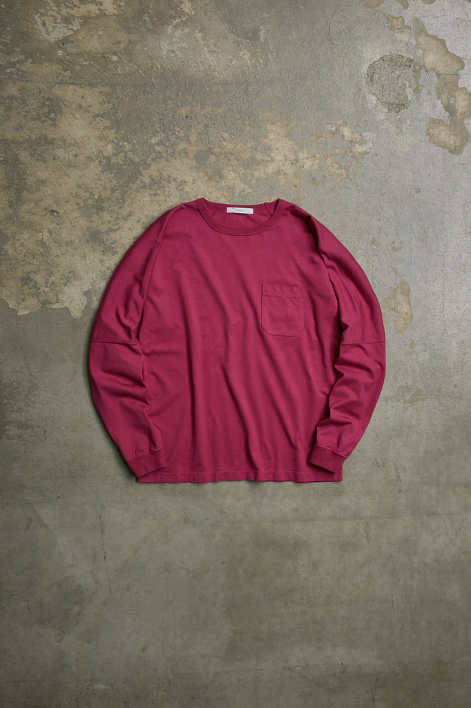 SUVIN COTTON L/S POCKET TEE