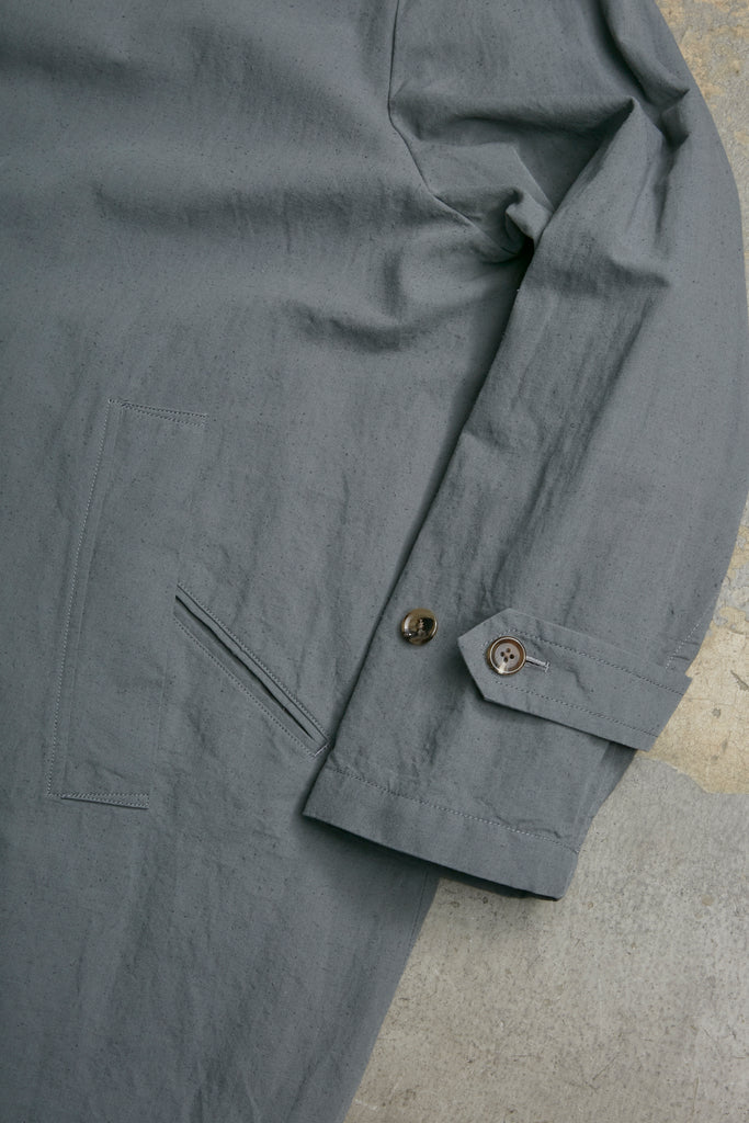 TWISTED  CHAMBRAY GABARDINE OVER COAT