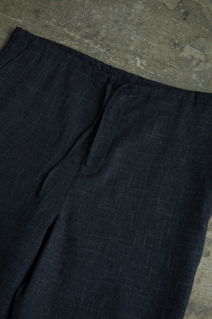 BRUSHED SLUB TWEED DRAWSTRING PANTS