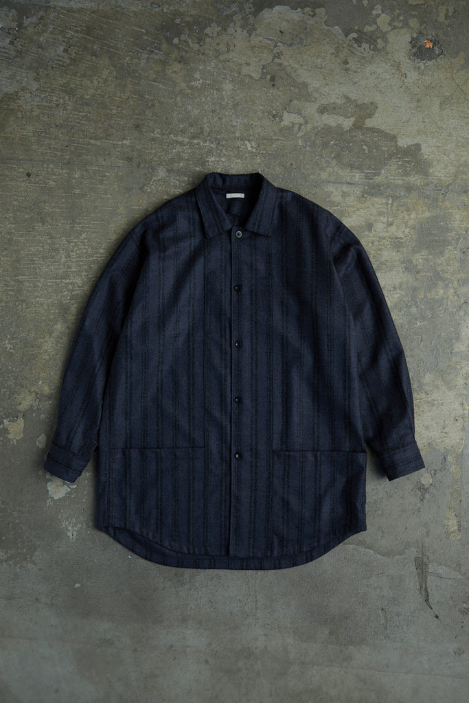 BOUCLE STRIPED LONG SHIRT